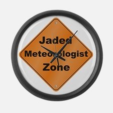 Jaded_Meteorologist_10x10_RK2010 Large Wall Clock