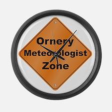 Ornery_Meteorologist_10x10_RK2010 Large Wall Clock
