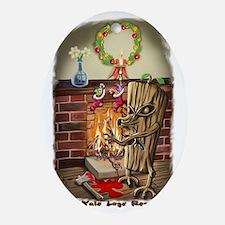 The Yule Logs Revenge Style II Oval Ornament