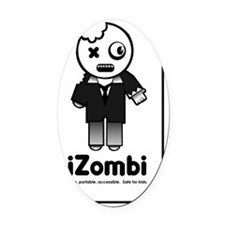 iZombi with text scoop DK 1 Oval Car Magnet