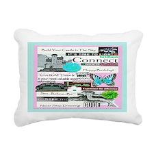castleshb6x4aqua Rectangular Canvas Pillow