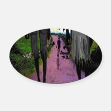 WALK OF DEATH tee shirt Oval Car Magnet