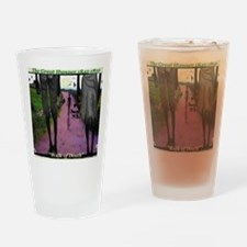 WALK OF DEATH tee shirt Drinking Glass