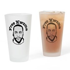 Free Kwame - Round Drinking Glass