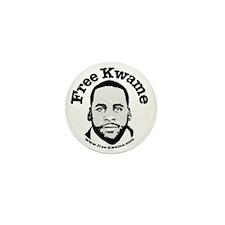 Free Kwame - Round Mini Button