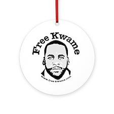 Free Kwame - Round Round Ornament