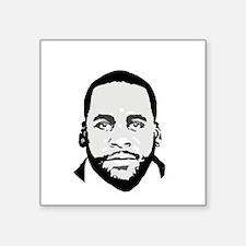 """Free Kwame - Round (Dark) Square Sticker 3"""" x 3"""""""