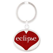 Eclipse heart Oval Keychain