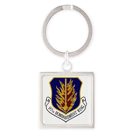 97th Bomb Wing Square Keychain