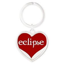 Eclipse heart no grunge Heart Keychain
