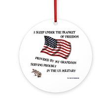 2-blanket of freedom grandson Round Ornament
