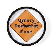 Ornery_Democrat_10x10_RK2010 Wall Clock