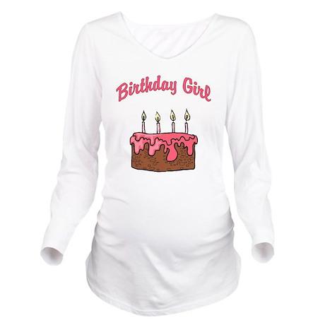 birthday girl 4 Long Sleeve Maternity T-Shirt