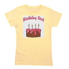 birthday girl 4 Girl's Tee