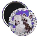 Chinese Crested Pair Magnet