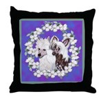 Chinese Crested Pair Throw Pillow
