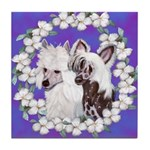 Chinese Crested Pair Tile Coaster