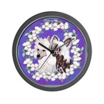 Chinese Crested Pair Wall Clock