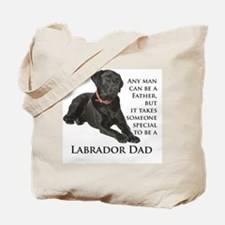 Black Lab Dad Tote Bag