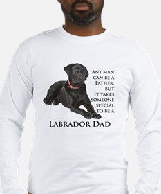 Black Lab Dad Long Sleeve T-Shirt