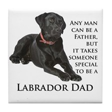 Black Lab Dad Tile Coaster