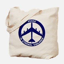 Peace Is Eternal Vigilance - B-52G Blue Tote Bag