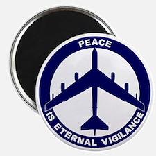 Peace Is Eternal Vigilance - B-52G Blue Magnet