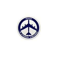 Peace Is Eternal Vigilance - B-52H Blu Mini Button