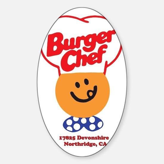 Burger Chef Northridge Lite Sticker (Oval)