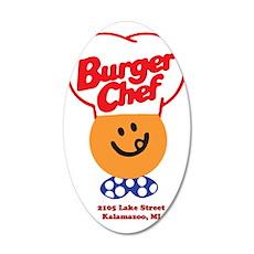 Burger Chef Kalamazoo Lite 35x21 Oval Wall Decal