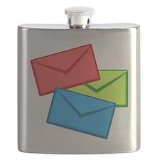 Multi-Colored Envelopes Flask
