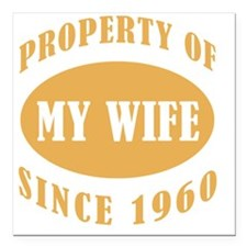 "Property_1960 Square Car Magnet 3"" x 3"""