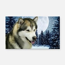 Malamute Rectangle Car Magnet