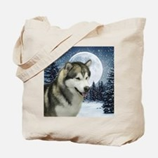 WinterMalamuteTile Tote Bag