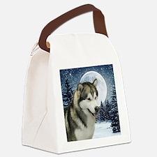 WinterMalamuteTile Canvas Lunch Bag