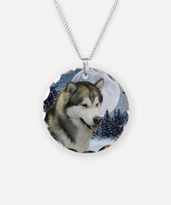 WinterMalamuteTile Necklace