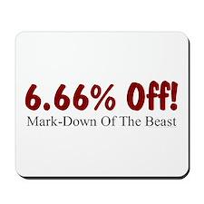 Mark-Down of Beast Mousepad