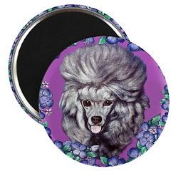 Gray Poodle Magnet