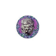 Gray Poodle Mini Button (100 pack)