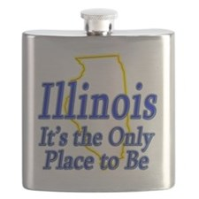 Illinois  Its the Only Place to Be Flask