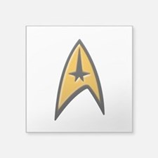 "STAR TREK Classic INSIGNIA Square Sticker 3"" x 3"""