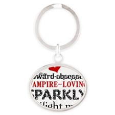 TwlghtMom S6 Oval Keychain
