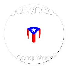 Guaynabo B Round Car Magnet