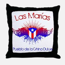 Las Marias W Throw Pillow