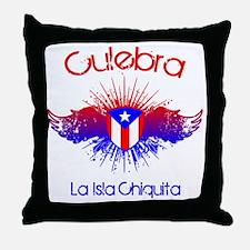 Culebra W Throw Pillow
