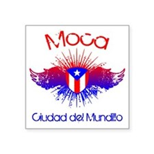 "Moca W Square Sticker 3"" x 3"""