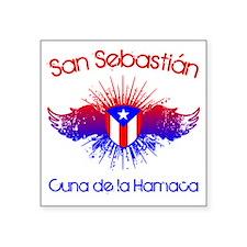 "San Sebastian W Square Sticker 3"" x 3"""