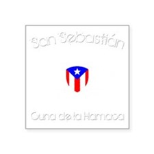 "San Sebastian B Square Sticker 3"" x 3"""
