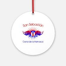 San Sebastian W Round Ornament