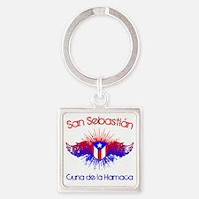San Sebastian W Square Keychain